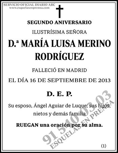 María Luisa Merino Rodríguez